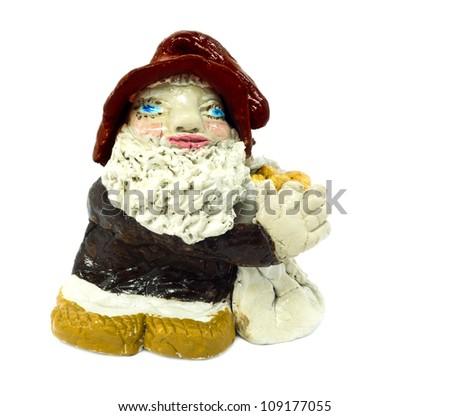 Sitting Gnome isolated on white background