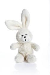 Sitting white stuffed bunny