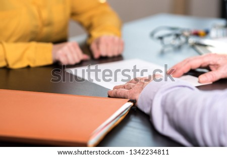 Situation of business negotiation between businesswoman and businessman #1342234811