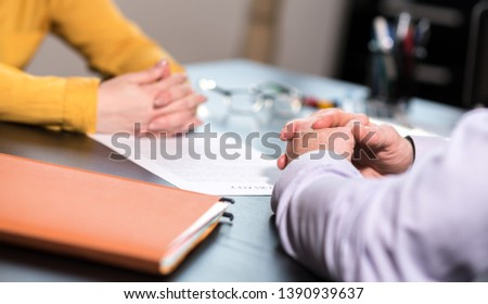 Situation of business negotiation between businesswoman and businessman #1390939637