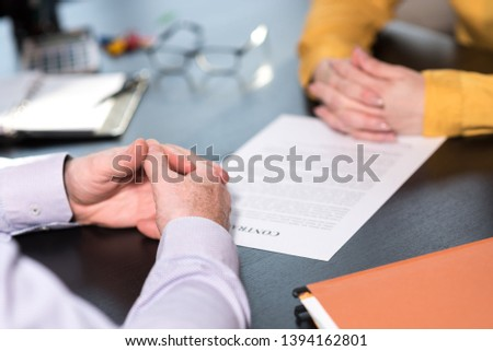 Situation of business negotiation between businesswoman and businessman #1394162801