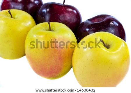 Six Apples Closeup