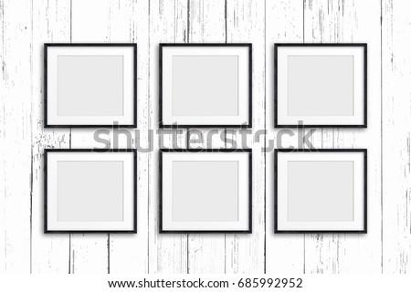 Free photos Collage of six blank frames | Avopix.com