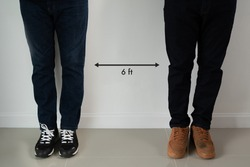 Six Feet Guidelines physical distance to keep to avoid 6 feet the covid-19 contagion during the 2020