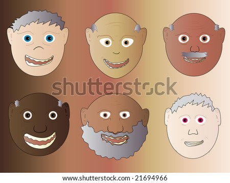Old Man Face Cartoon Old Men Male Face Cartoon