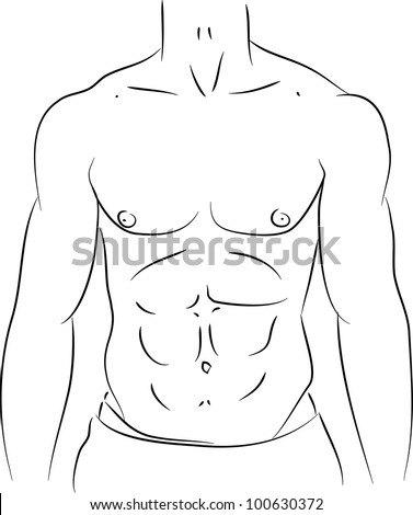 how to draw cartoon abs