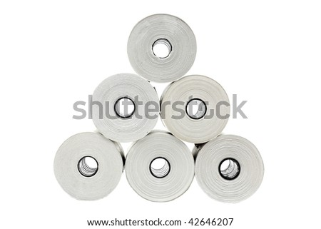 Six rolls of thermo paper for receipt printers and POS-terminals
