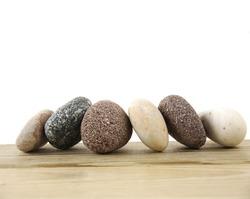 Six stacked stones
