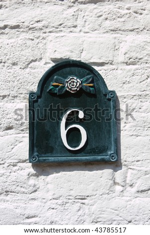 Six - street number