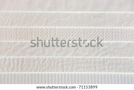 six types of white paper texture