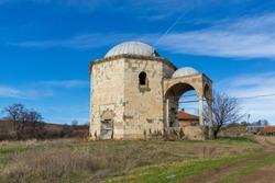 Sixteenth century Ottoman tomb of Hazar Baba (Hazar Baba Tyurbe) in village of Bogomil, Haskovo Region, Bulgaria