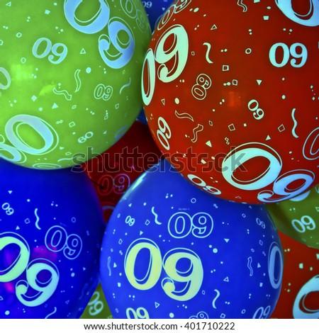 Sixtieth Birthday Balloons;  60th birthday balloons background image