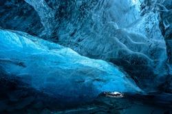 Skaftafell glacier, Vatnajokull National park, amazing nature of Iceland,skaftafell ice cave