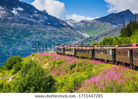 Photo of  Skagway, Alaska. The scenic White Pass & Yukon Route Railroad.