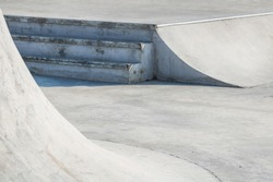 Skate park. Close up of some obstacles in a skate park