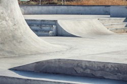 Skate park. Close up of some obstacles in a skate park.
