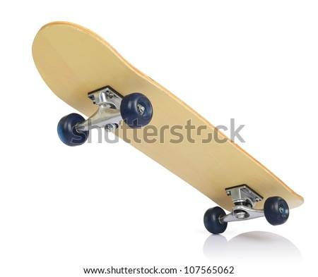 Skateboard deck on white background