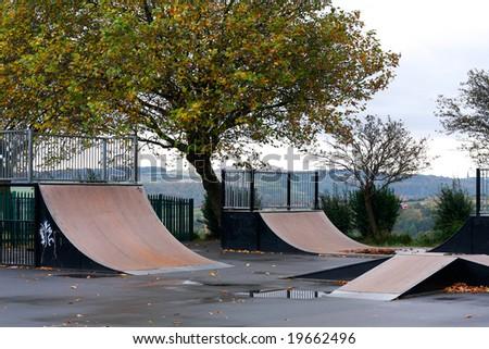 Skateboard jumping