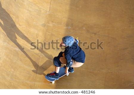 skateboarder coming