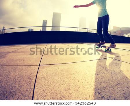skateboarder  skateboarding on city
