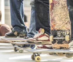 skateboarders in the skatepark