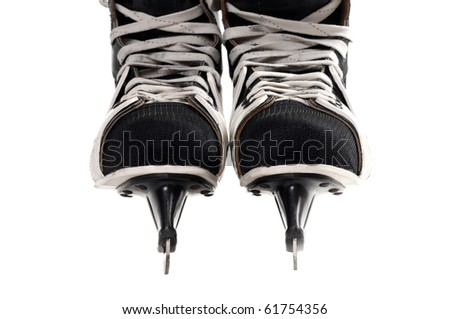 Skates isolated on white background