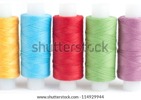 skeins thread color - stock photo