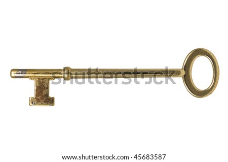 Skeleton key isolated on a white background with clipping path