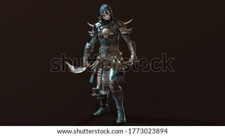 Skeleton, render 3D model on the background Сток-фото ©