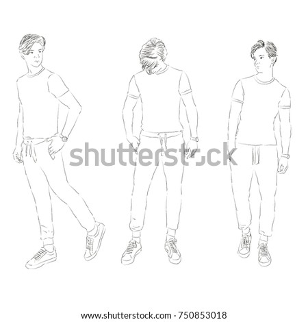SKETCH, Casual wear for home , Fashion Men , Minimal , isolated on white background