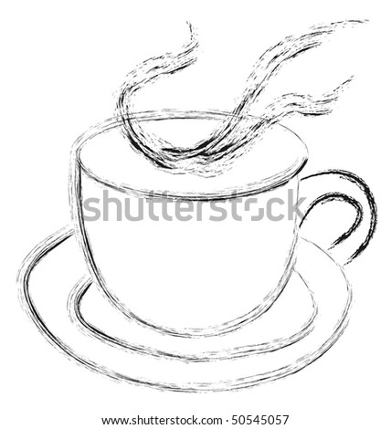stock-photo-sketch-of-steaming-hot-cup-of-tea-or-coffee-isolated-on-white-background-vector-version-in-50545057.jpg