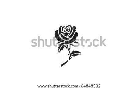 tribal and flower design tattoos. stock photo : Sketch of tattoo art, flower with tribal design