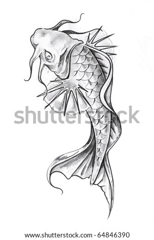 goldfish tattoo design. of tattoo art, goldfish