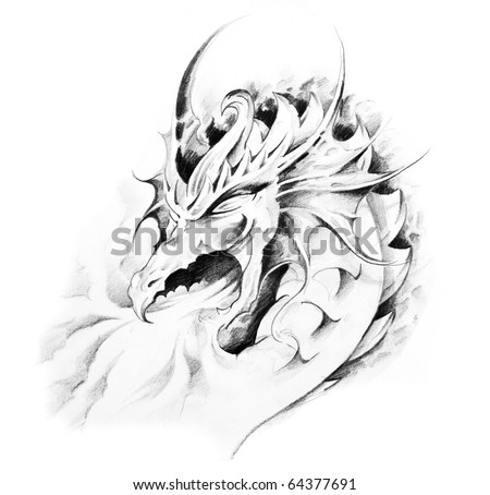 medieval tattoos. Medieval Dragon Tattoos. art,