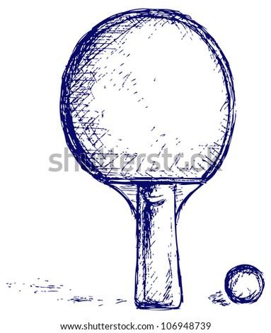 Sketch ping pong. Raster