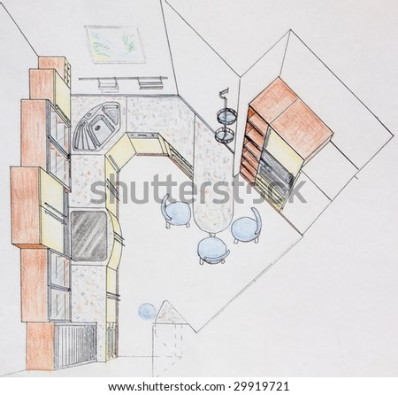 Kitchen Design Sketch on White Kitchen With Modern Kitchen Interior Design Find Similar Images
