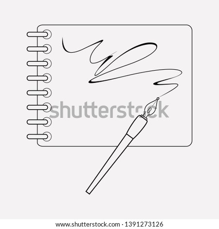 Sketchbook icon line element.  illustration of sketchbook icon line isolated on clean background for your web mobile app logo design.