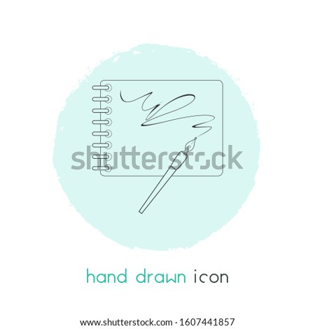 Sketchbook icon line element. illustration of sketchbook icon line isolated on clean background for your web mobile app logo design.