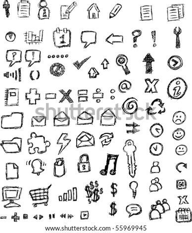 sketched icons