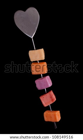 Skewer of sweets, candy
