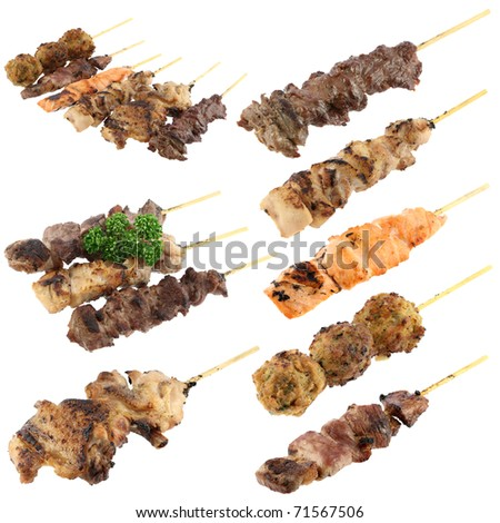 Skewer set - stock photo