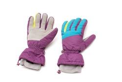 ski gloves isolated on white background