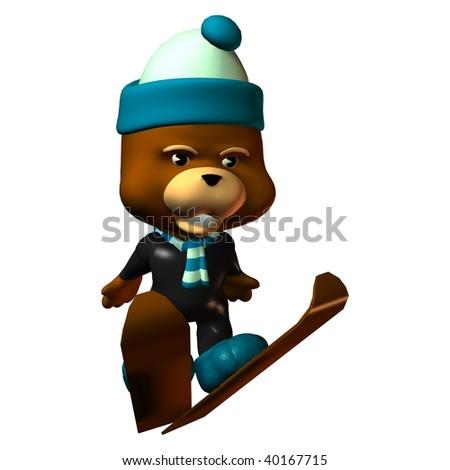 Ski jump teddy