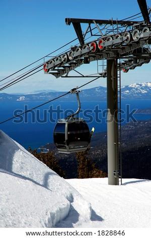 Ski Lift at Lake Tahoe, California
