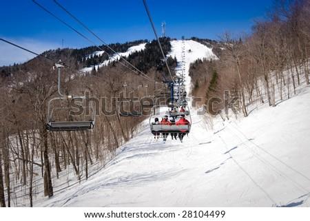 Ski lift in Mont Tremblant resort, Canada #28104499