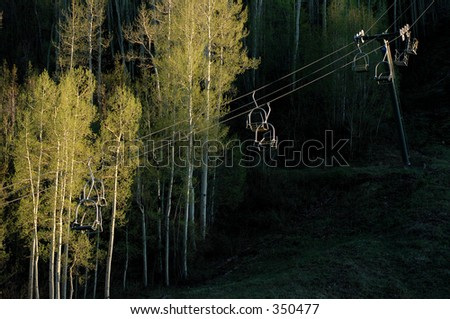 Ski Lifts after the season in Colorado