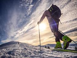 Ski mountaineering in the italian alps