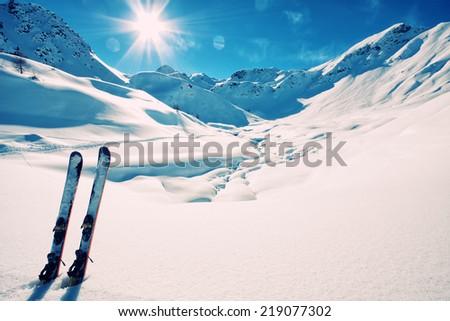 Ski on italian alps #219077302