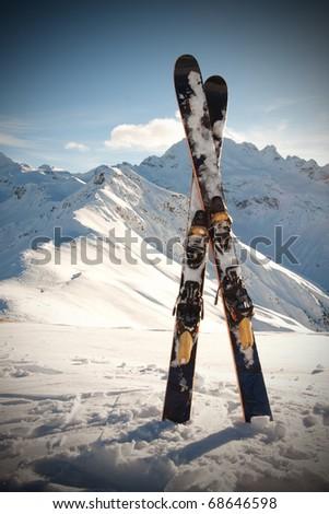 Ski on italian alps