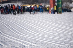 Ski race relay sprint tour slope gate